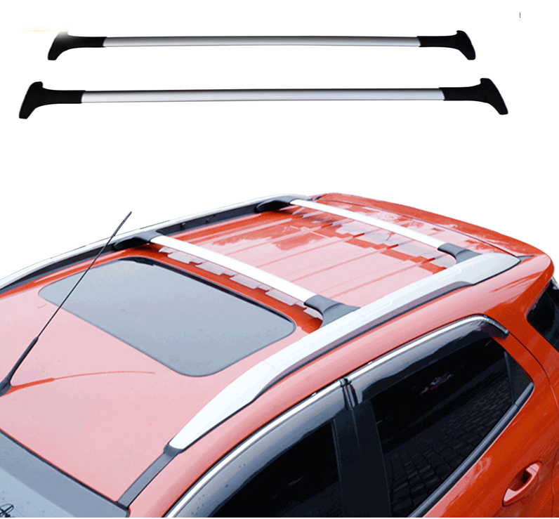 Car Styling For Ford Ecosport 2013 2014-2016 2017 Aluminum Alloy Side Bars Cross Rails Roof Rack Luggage Carrier Rack 2Pcs car styling aluminum roof luggage rack for ford focus hatchback 1 3m accessories