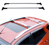 Car Styling For Ford Ecosport 2013 2014 2016 2017 Aluminum Alloy Side Bars Cross Rails Roof Rack Luggage Carrier Rack 2Pcs