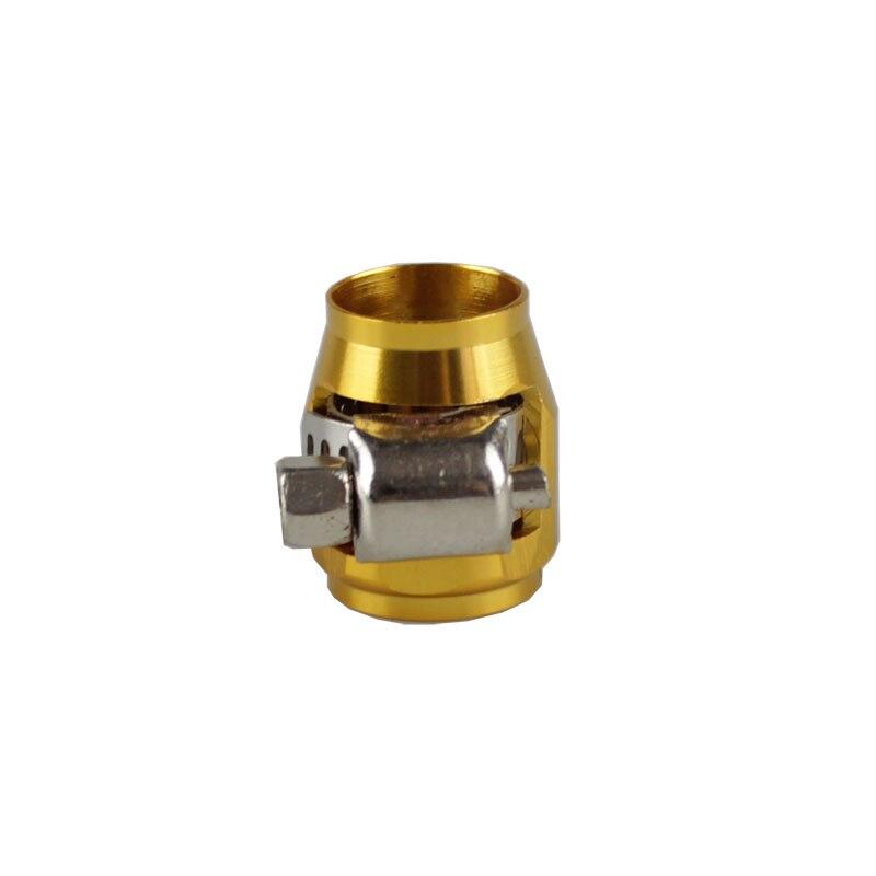 Rastp-красочные применяются к AN8 масляные зажимы для топливного шланга концевые Отделители Алюминиевый шланг соединитель для шланга зажимы RS-TC008-AN8 - Цвет: gold