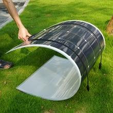 160W 18V Flexible Monocrystalline Solar Panel for 12V Battery RV Boat Car Home Solar Power