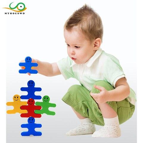 myhoeswd brinquedos do bebe brinquedo de nidificacao de classificacao de madeira empilhamento stack up bloco