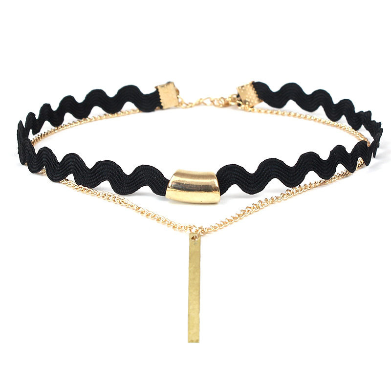 New Pendant Choker Necklace Black Velvet Belt Strip Tassel Chains Women Jewelry Vintage Bar Chocker Necklaces Collar Jewelry gold earrings for women