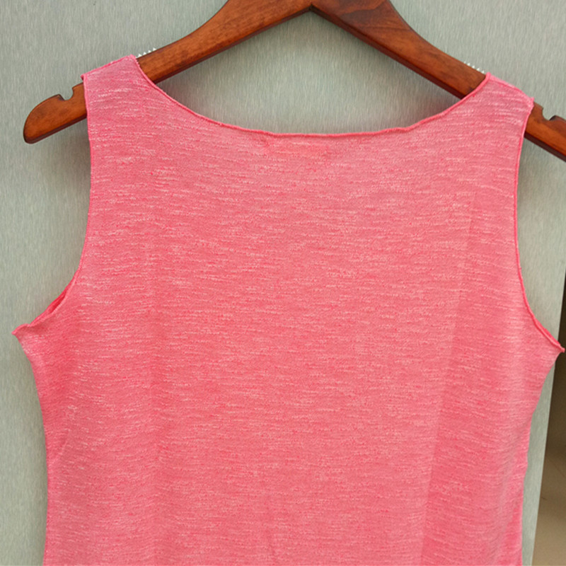 Spring Summer New Fitness Tank Tops Wanita tanpa lengan Round Neck - Pakaian wanita - Foto 5
