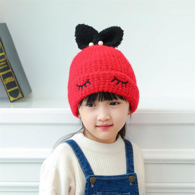 c04c90a651a Baby hats Beanie For Boys Girls Long Rabbit Ears Children Dots Hats (45 50cm)  knit cap beard girls costume-in Hats   Caps from Mother   Kids on ...