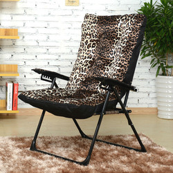 Fashion leisure folding chair with adjustable chair and lazy computer chair living room balcony garden Moon chair
