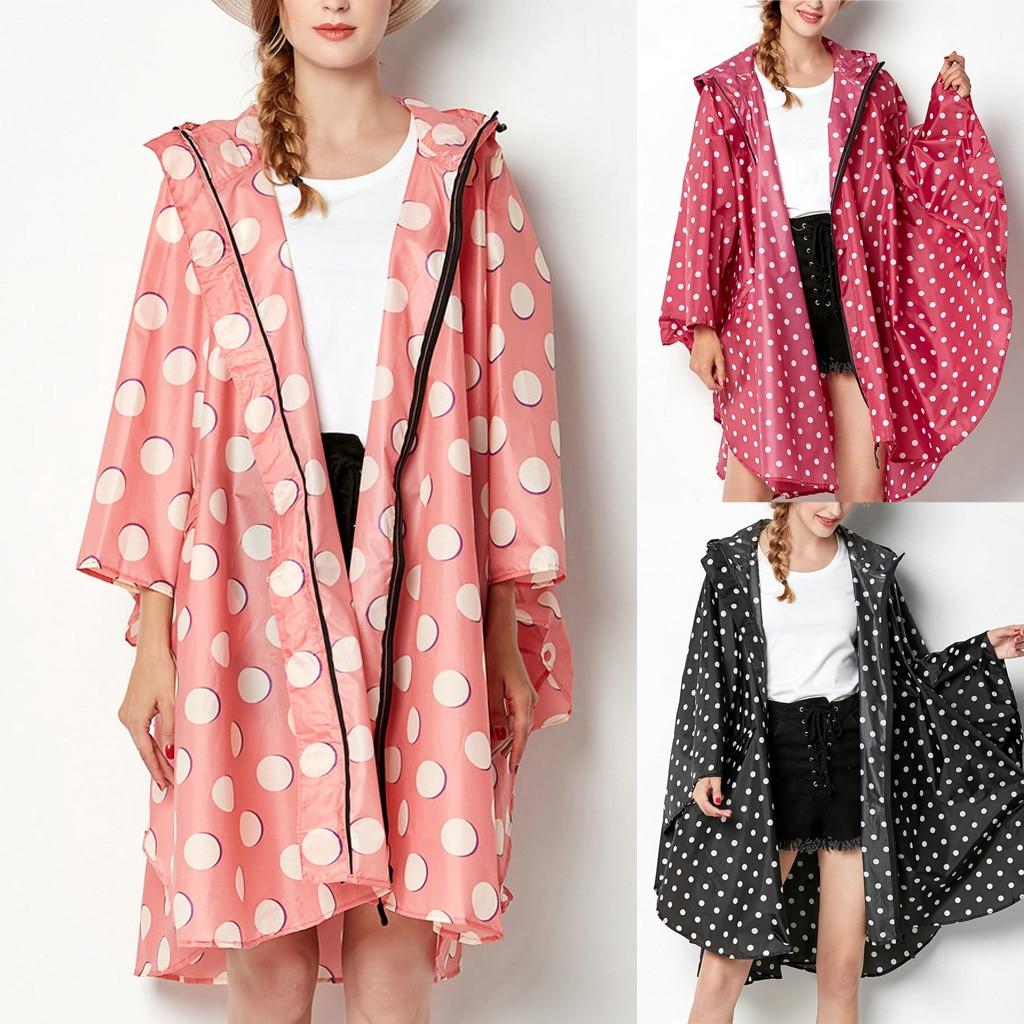2018 New Women's Wave Point Rain Jacket Outdoor hoodie sweatshirt Waterproof Windproof Coat Outwear Womens Tops and Blouse(China)