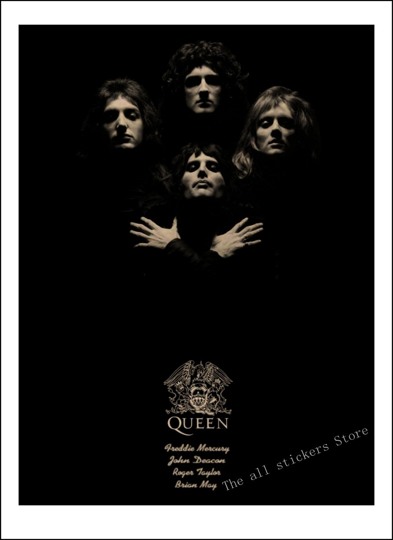 Queen Band Music Kraft Paper Poster Vintage High Quality Printing Drawing Core Decorative Painting Wall Sticker/910