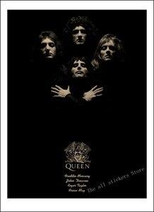 Image 4 - Queen di Musica per Banda di Carta Kraft Poster Vintage di Alta qualità di Stampa di Disegno nucleo Pittura Decorativa Autoadesivo Della Parete/910