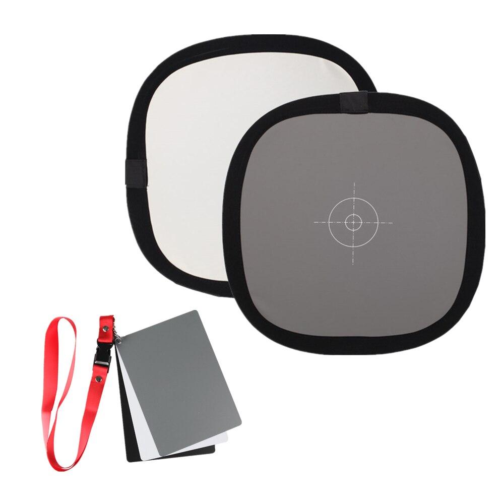 Focusing-Board Camera Balance Grey-Card Reflector White Nikon Canon Sony Double-Face