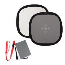 12 Inch 30CM 18% 2in1 camera Grey Card Reflector White Balance Double Face Focusing Board + Carry Bag for Canon Nikon sony