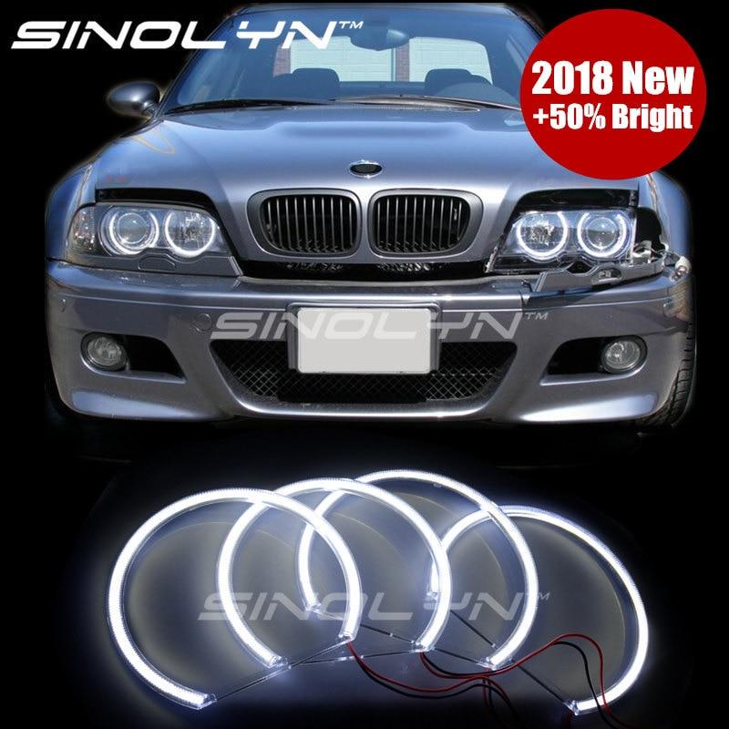 4X BMW E60 03 TO 06 XENON WHITE ANGEL EYE LED CANBUS BULBS 501 W5W Push In Wedge