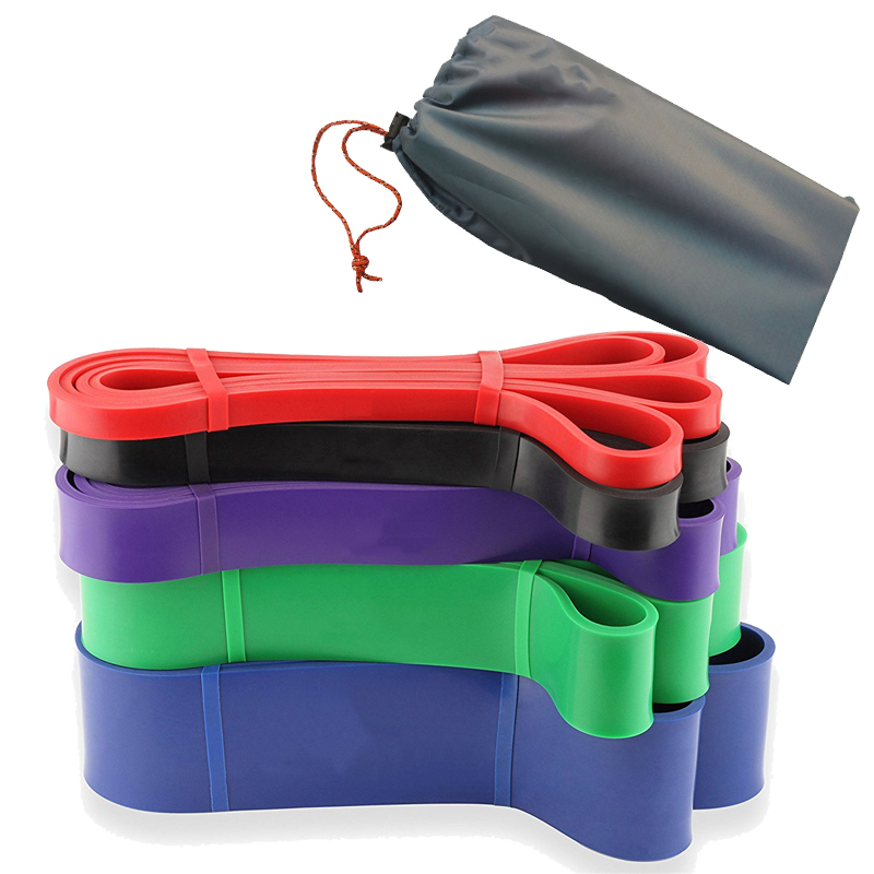 5pcs/Set Crossfit Pull Up Resistance Bands Natural Latex Bands Fitness Resistance Rubber Bands Hanging Training Strap недорого