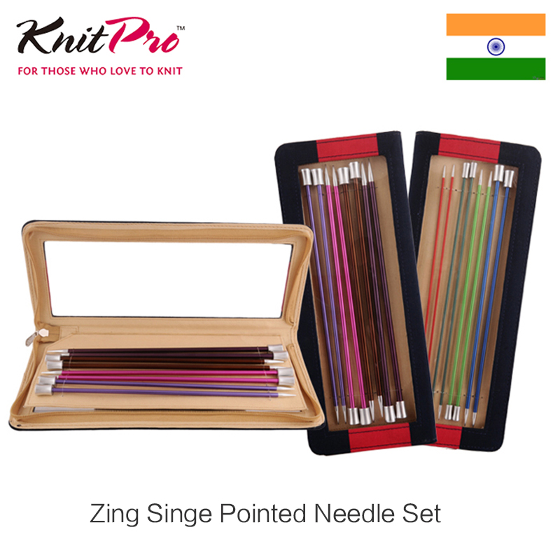 Knitpro Zing 25cm 30cm 35cm Single Pointed Needle Set