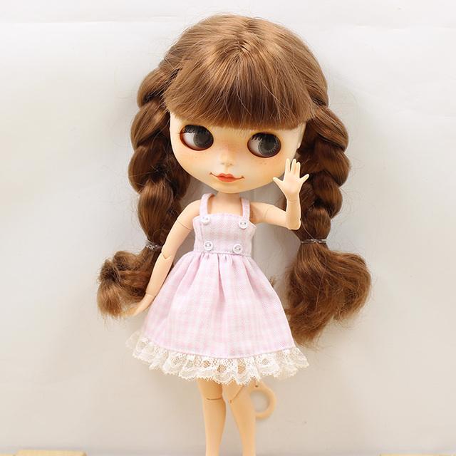 Neo Blythe Doll Lace Gingham Dress