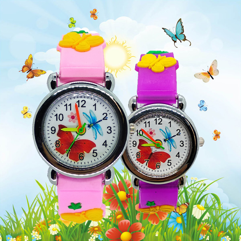 Dropshipping Cartoon Butterfly Watch For Children Kids Watches Fashion Simple Child Students Clock For Baby Girls Christmas Gift