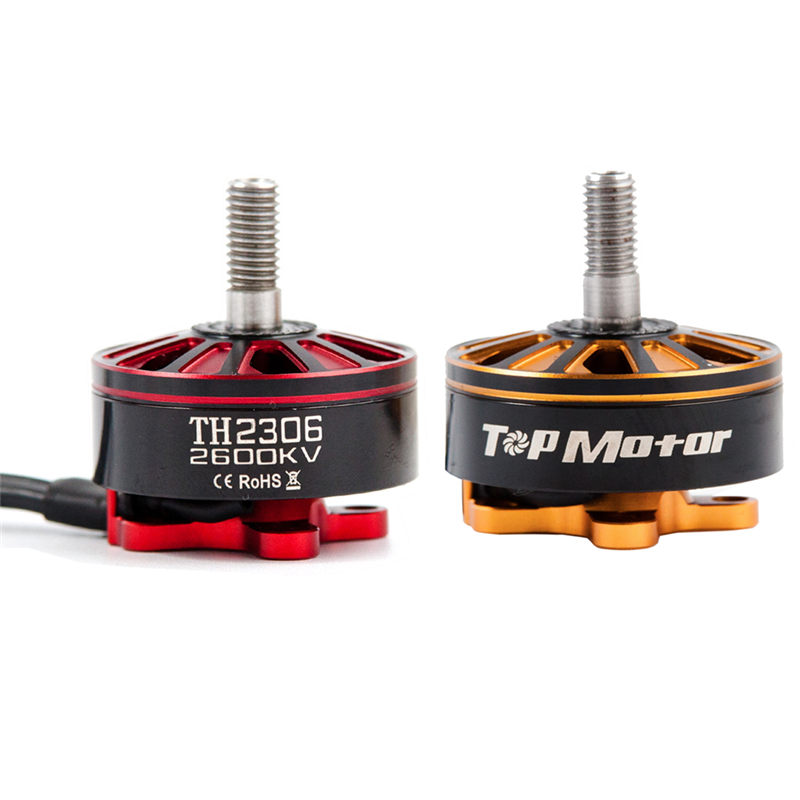 2PCS TopMotor TH2306 2306 2600KV 3-5S CW & CCW Brushless Motor Gold Red for RC Multicopter Models Propeller Spare Part Accs rcinpower 2306 2200kv mini brushless motor cw ccw for rc racing multicopter fpv