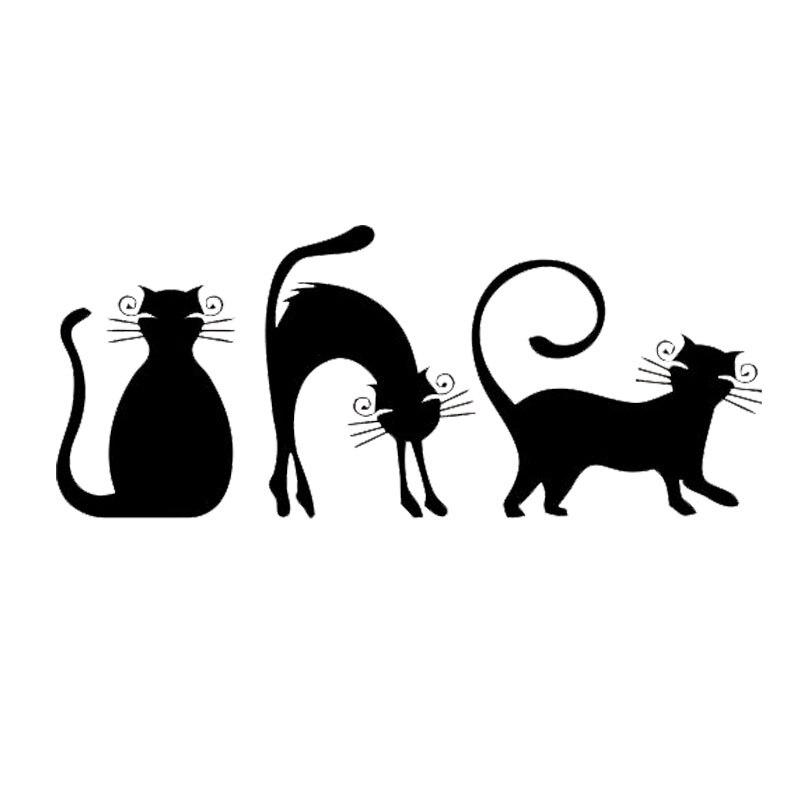16*6.7 CM Cat Kitten Animal Vinilo Moda Creativa de Dibujos Animados Etiqueta En