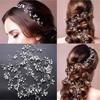 Bridal Wedding Crystal Bride Hair Accessories Pearl Flower Headband Women 1