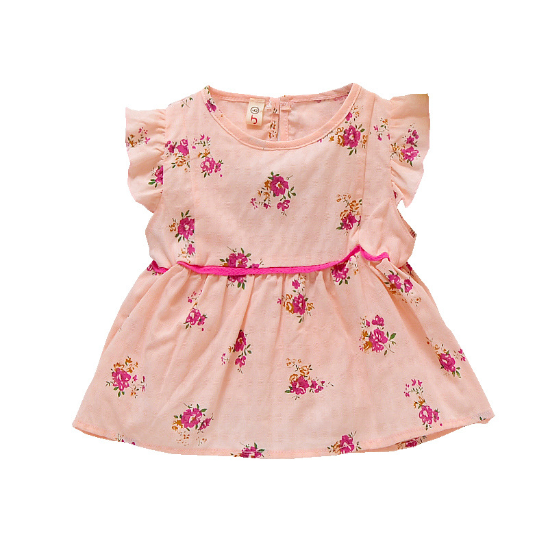 2018 New Summer Style Toddle Children Clothing Flower Girl Dresses Cute Ball Gown Princess Infant Dress Kids Girls Clothes