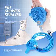 New Pet Bathing Tool Comfortable Massager Shower Cleaning Washing Bath Sprayers Dog Brush Supplies Wholesale Scrubber