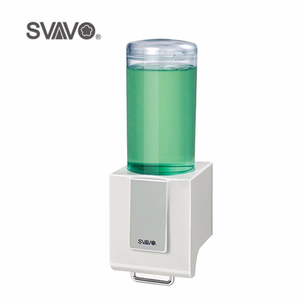 Plastic Manual Hand Soap Dispenser Wall Mounted Bathroom Accessories Single Shower body Liquid Soap Dispenser