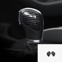 For Golf MK7 2014 2018 ABS Matte and Carbon fibre Car gear shift lever knob handle cover Cover Trim Car Styling Accessories