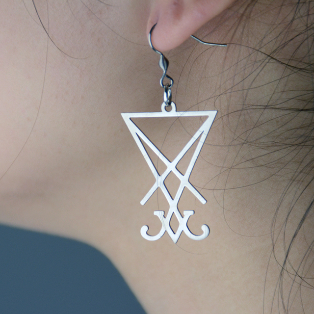 50pairs Lucifer Sigil Earring Charm Unique Geometric Personal Gift By Handmade