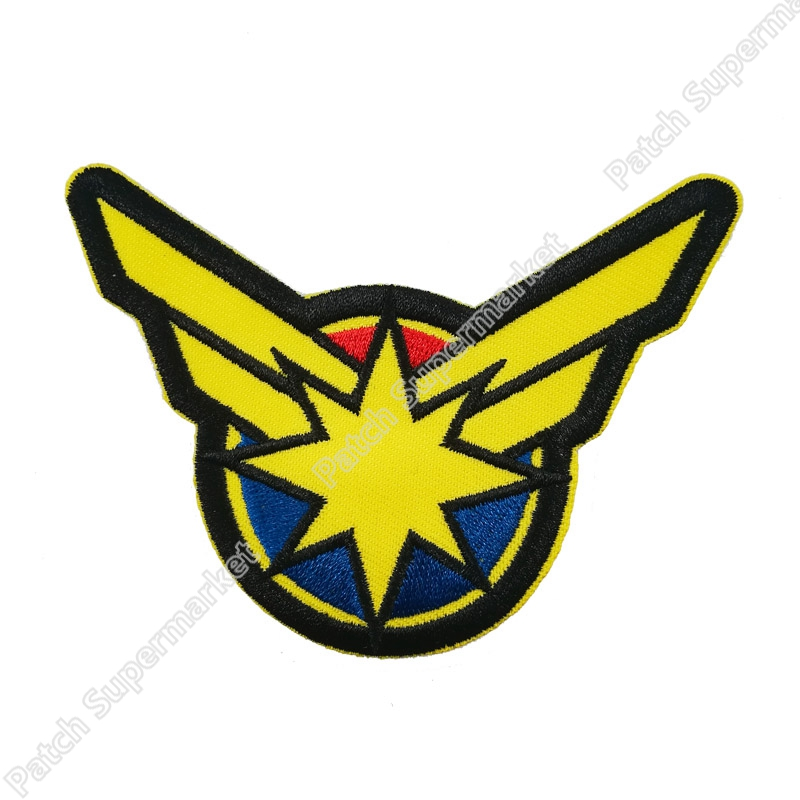 4 Captain Marvel Patches TV Series Movie Film Cosplay Costume EMBROIDERED iron on patch for clothing