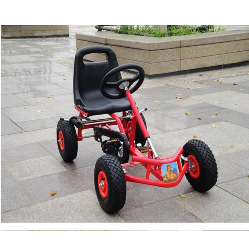 Kids Pedal Go Kart Ride On Rubber Wheels Sports Racing Toy Trike Car ...