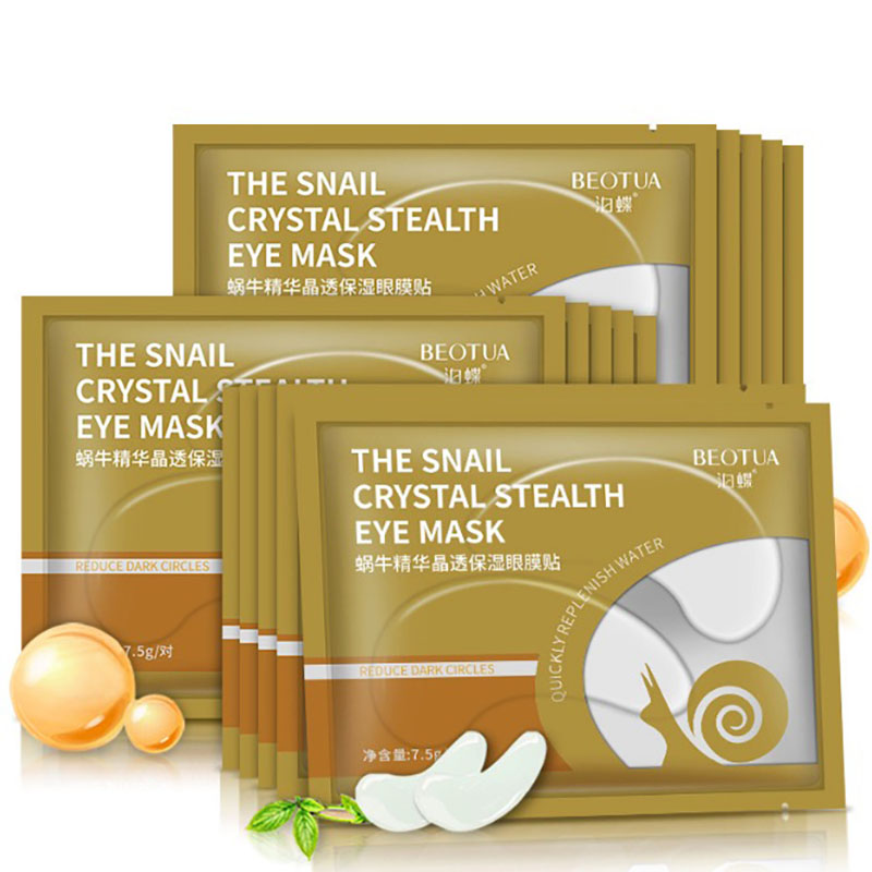 10pcs=5packs Snail Crystal Collagen Eye Mask Eye Patches Eye Mask For Face Care Dark Circles Remove Gel Mask For Eyes Ageless