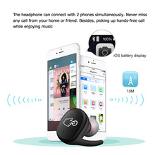 Wireless Waterproof Bluetooth Headphones w/ Mic Charging Box