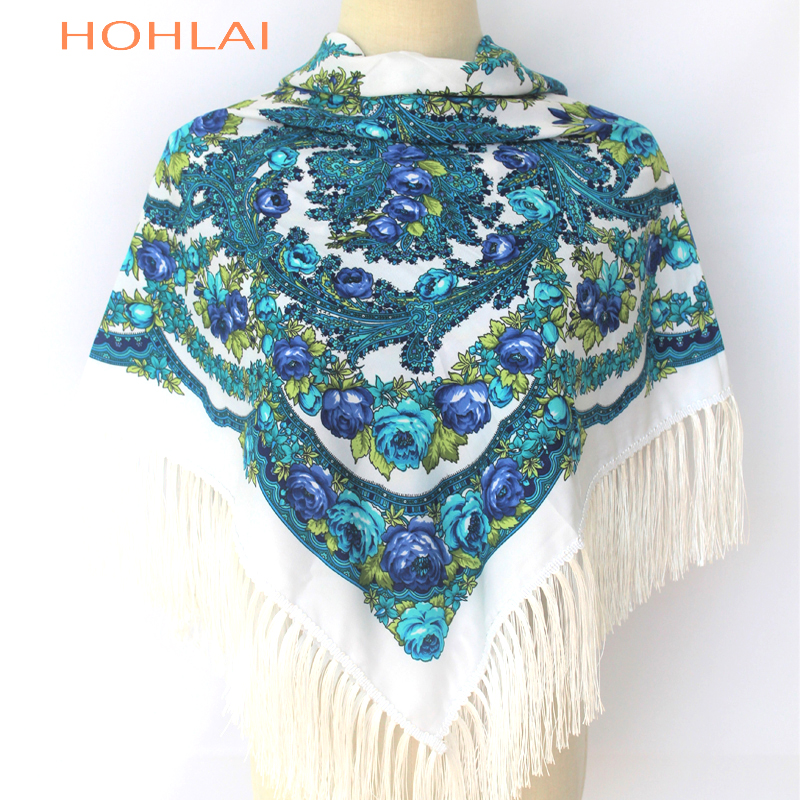 2019 New Fashion Warm Women Scarf Square Scarves Female Wraps Winter Autumn Tassel Printed Girl Shawls Blanket Scarf