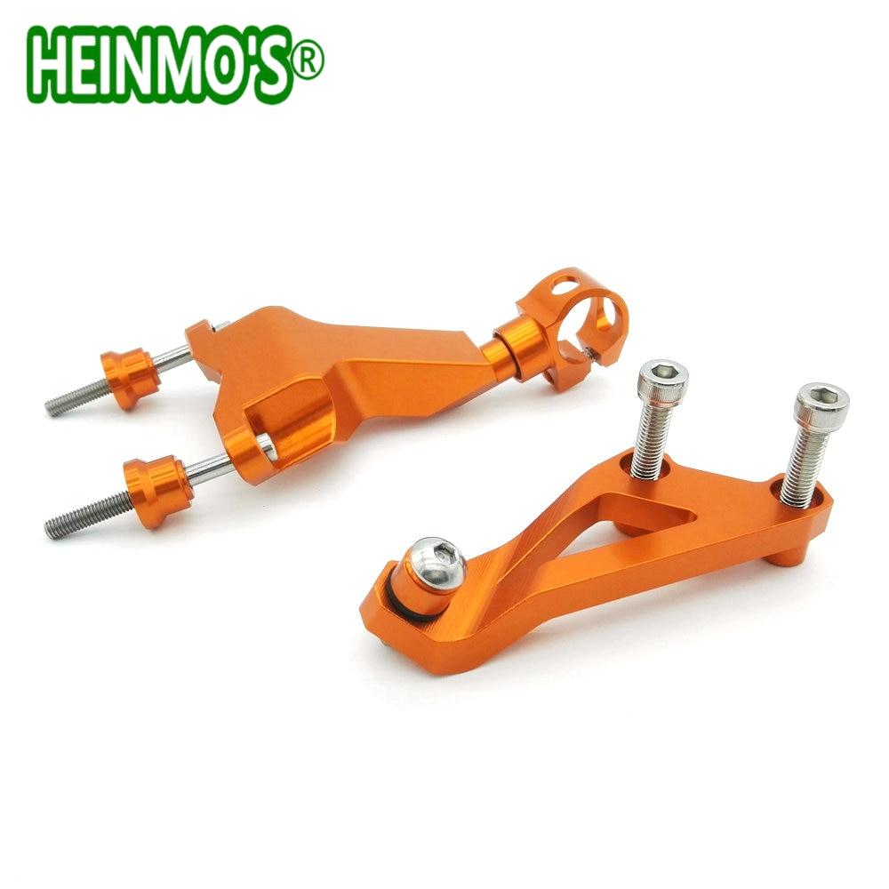 Accessoires de moto Orange CNC Kit de support d'amortisseur de direction en alliage d'aluminium pour KTM DUKE 125/200/390