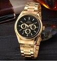 CHENXI Marca de Oro Los Hombres de lujo Relojes de Los Hombres Militar Reloj de pulsera de Deporte de Los Hombres Reloj de Acero Completo Impermeable Relogio masculino CX-018IPG