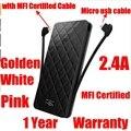 Iwalk 10000 mah power bank 10000 mah powerbank slim 2.4a para iphone 7 6 s 6 5S ipad huawei mate 8 com mfi cabo micro usb