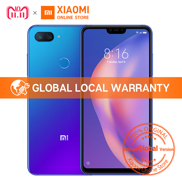 "Global Version Xiaomi Mi 8 Lite 6GB 128GB 6.26"" 19:9 Notch Full Screen Snapdragon 660 Octa Core 24MP Front Camera Smartphone"