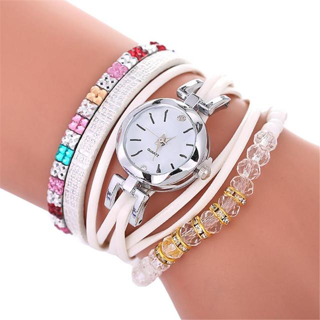 Beautiful Fashion Bracelet Watch Ladies Watch Round bracelet watch 2018 Women Me