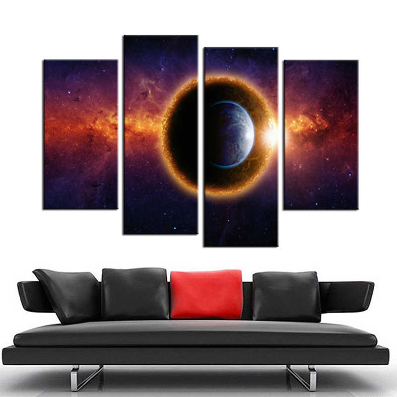 4 Pieces/set Abstract the cloud Wall Art For Wall Decor Home Decoration Picture Paint on Canvas Prints Painting framed/XYS-100