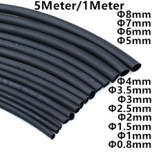 цена на 2:1 Black 1mm 2mm 3mm 5mm 6mm 8  10mm Diameter Heat Shrink Heatshrink Tubing Tube Sleeving Wrap Wire Sell DIY Connector Repair