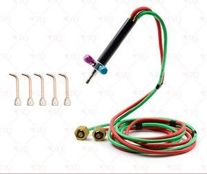 Little Smith torche à gaz Mini soudure coupe soudeuse bijoux outils avec 5 embouts buse or oxygène fusion torche lighte allumage