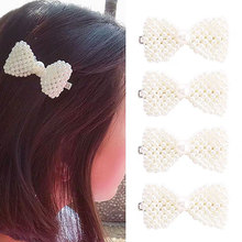 Fashion Pearl Hair Clip for Women Elegant Korean Design Snap Barrette Stick Hairpin Hair Styling Accessories ubuhle fashion women full pearl hair clip girls hair barrette hairpin hair elegant design sweet hair jewelry accessories 2019