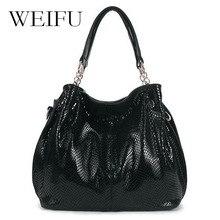 WEIFU brand women handbags Leather shoulder bag Ms snakeskin grain slanting across packages
