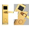 Keyless Smart RFID Card Door Lock Access Control Automatic Door Operators with Door Handles Home Security Hotel Door Locks
