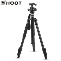 SHOOT Professional Flexible 4 sections Aluminium Tripod for Canon 80D 60D Nikon D3100 D7100 D810 DSLR Action Camera Accessories