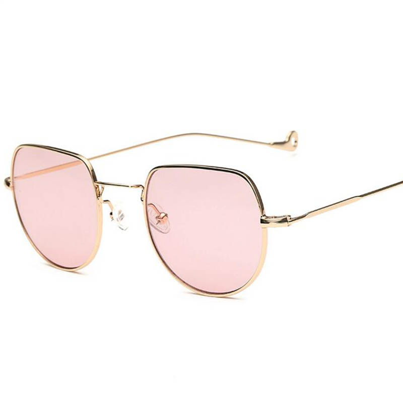 2017 Tendências Mulheres Óculos De Sol Quadrado Pequeno Quadrilátero polígono  quadro lente Clara Óculos Homens de Marcas de luxo do vintage de Metal  Quadro 2781bd4709