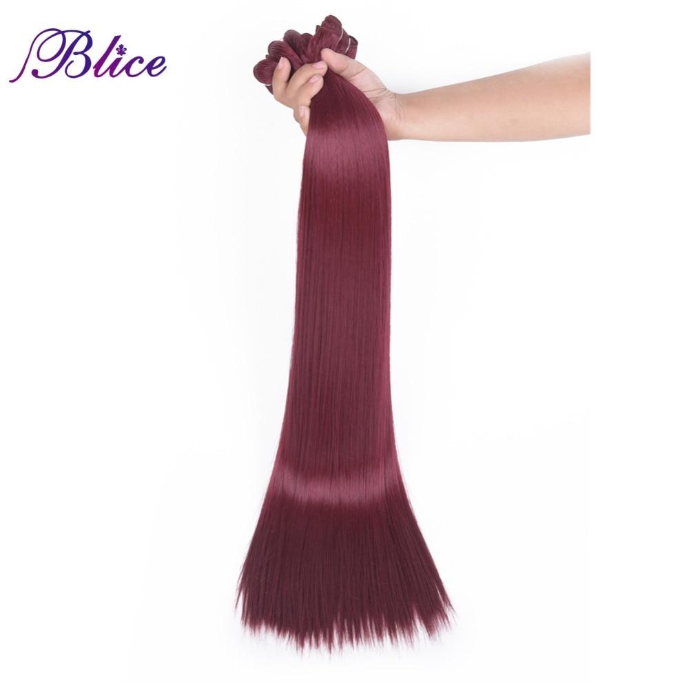 Blice Syntetiska hårförlängningar 5 stycken / Parti 26 tum #BUG - Syntetiskt hår - Foto 1