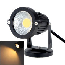8W 12V AC DC IP65 Black Aluminum LED Lawn Spot Light Lamp High Power RGB Warm/Nature White Outdoor Pond Garden(China)