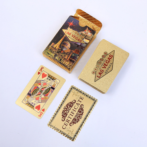 Gold Playing Cards Poker Game
