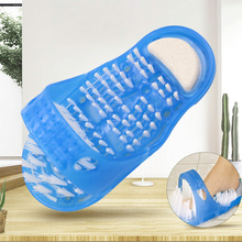 1 Pza cepillos de baño esponjas depuradoras de plástico para baño, pies de ducha, zapatillas de masaje para Spa, limpiador de piedra pómez para eliminar la piel muerta pie