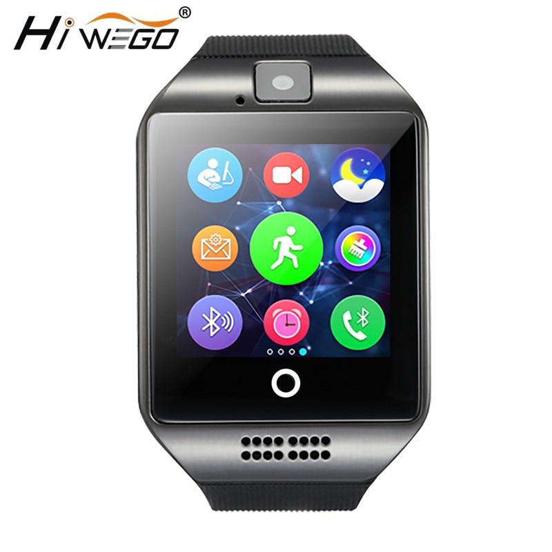 2018 Orologio Intelligente Bluetooth Q18 Supporto Sim Hiwego Connessione Fotocamera Android IOS Relojes Chiamata di Promemoria Smartwatch Sport Relogio